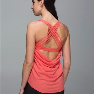 Lululemon Wild Tank Coral/Orange Open Back